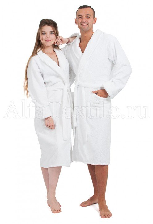 Халат махровый мужской Белый