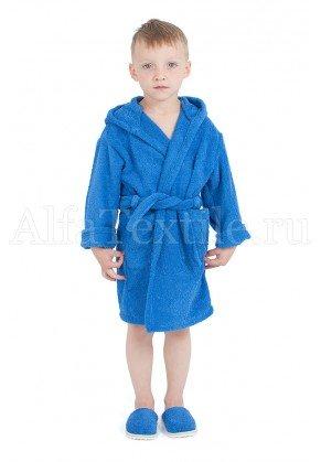 Халат махровый детский капюшон ВАСИЛЕК 26-32
