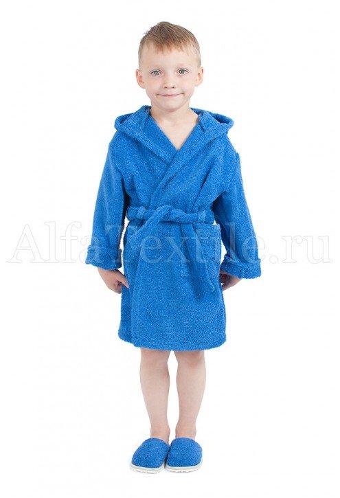 Халат махровый детский капюшон ВАСИЛЕК 34-40