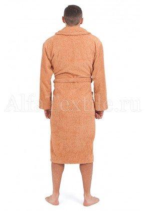 Халат махровый мужской Орех