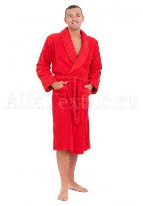 Халат махровый мужской Красный