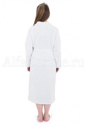 Халат махровый женский Белый - махра Узбекистан