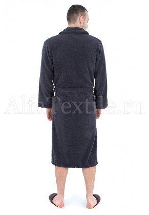 Халат махровый мужской Серый - махра Узбекистан